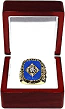 DETROIT TIGERS (Alan Trammell) 1984 WORLD SERIES CHAMPIONS Vintage Rare & Collectible High-Quality Replica Baseball Gold Championship Ring with Cherrywood Display Box