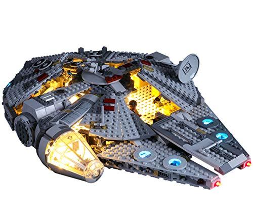QZPM Led Beleuchtungsset Für Lego Star Wars Millennium Falcon, Kompatibel Mit Lego 75257 Bausteinen Modell(Modell Nicht Enthalten)
