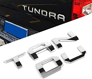 CAR ROVER For Toyota Tundra 2014-2019 Tailgate Insert Letters - Silver