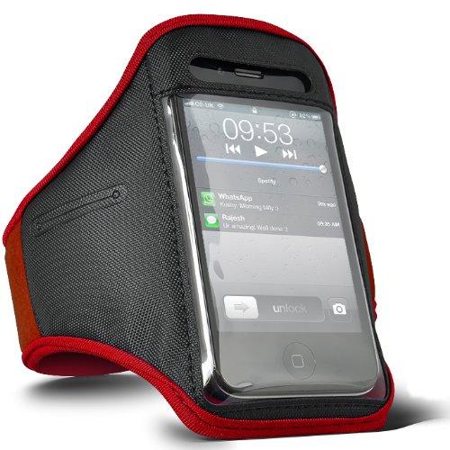 Digi Pig - Brazalete deportivo, color rojo, para iPod Classic