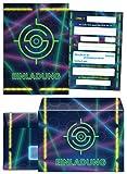 12 Einladungskarten Geburtstag Kinder Lasertag incl. 12 Umschläge für Mädchen Jungen Jungs Einladungen Kindergeburtstag Geburtstagseinladungen Set Partyset Kartenset Party