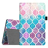 Fintie Folio Case for Amazon Fire HD 8 Tablet (Compatible with 7th and 8th Generation Tablets, 2017 and 2018 Releases) - Slim Fit Premium Vegan Leather Standing Protective Cover, Moroccan Love