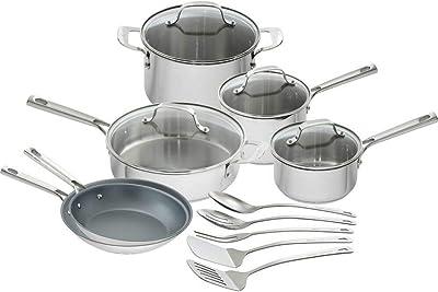 Amazon.com: Anolon 10 piezas tri-ply ónice Juego de cocina ...
