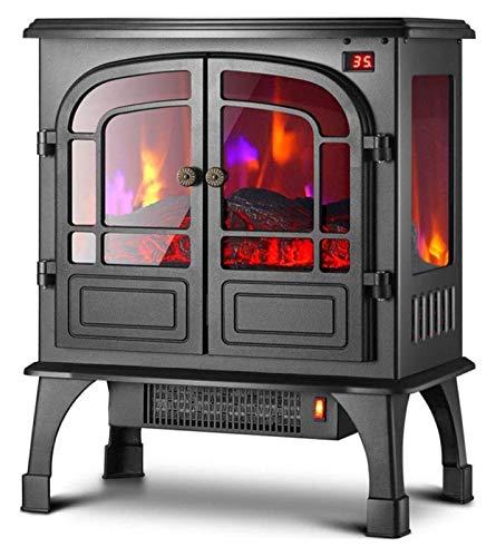 WNN-URG Elektro-Kamin mit Backofen Durchlauferhitzer 900 oder 1800 Watt Standalone Brenner/Herd Heizung mit abnehmbarem Grill/Echt Kohle Fern URG (Color : Mechanical)