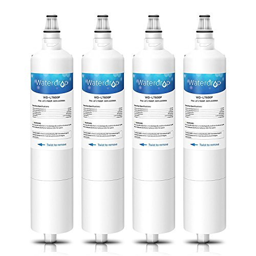 Waterdrop LT600P Sostituzione Filtro Acqua Frigorifero Interno per LG LT600P, 5231JA2005A, 5231JA2006A, 5231JA2006B, 5231JA2006F, PS2441842; Sears/Kenmore 46-9990, 04609990000; WSL-2, WF300 (4)