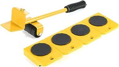 5pcs / Easy Set Lifter Mover Meubles Ensemble D'outils De Meubles Coulissant Heavy Duty Meubles Rouleau Déplacer Jusqu'à 1...