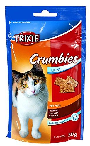 TRIXIE 24 Stück Crumbies mit Malz Katzensnack, 24 x 50 g Sparpaket