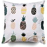 Sonder-Shop Beste Kissen, Quadratische Kissenbezüge Mit Zip Couch Sofa Cute Pineapples Different Textures Throw Cushion