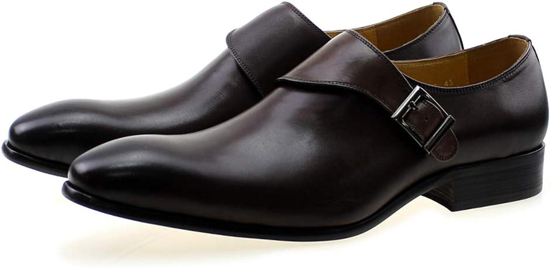 FELIX CHU män s Oxford Oxford Oxford Dress skor Classic Monk Strap Buckle Genuine läder Mans Dark bspringaaa Office Party Formella skor för män  letar efter försäljningsagent