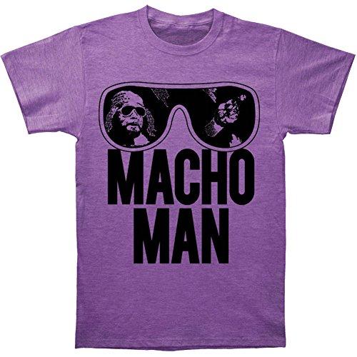 TV Store WWE World Wrestling Entertainment Old School Macho Man Glasses Erwachsene Heather Purple T-Shirt (Small)