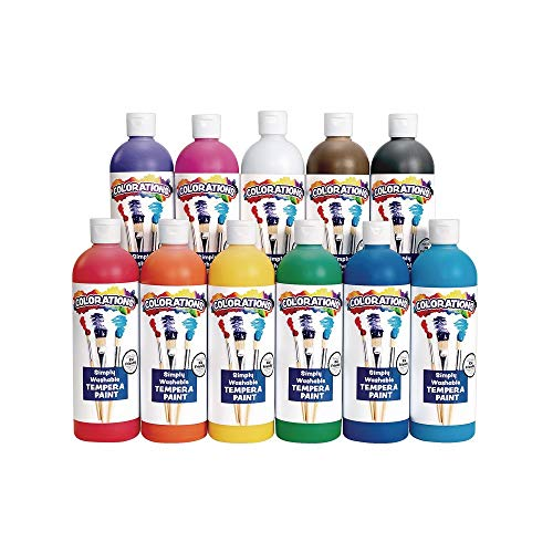 Colorations Simply Washable Tempera Paint Set of 11 Colors (Item # SWT16)