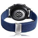 Correa Galaxy Watch 3 45mm/Galaxy Watch 46mm/Gear S3 Frontier/Classic Banda de Nylon Woven Loop...