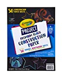 Crayola Black Construction Paper, Premium Art Supplies, Standard Size, 50 Count