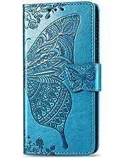 Hoesje voor Sony Xperia 8 lite, PU Lederen Flip Cover Notebook Portemonnee Telefoonhoesje met Magnetische Sluiting Stand Card Houder ID Slot Folio Siliconen TPU Bumper