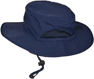 マウンテンハンター UPF50+ 帽子 UV カット 率 99.9%以上 ハット 日除け つば広 サファリハット 折りたたみ ひも付き ユニセックス