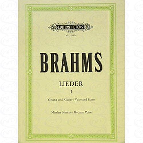 LIEDER 1 - arrangiert für Gesang - Mittlere Stimme (mezzo / Medium Voice) - Klavier [Noten/Sheetmusic] Komponist : BRAHMS JOHANNES