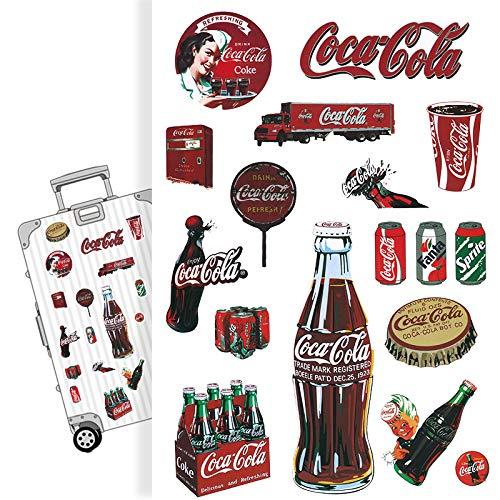 YUHANG Adesivi per valigie di Marca Marea Coca-Cola Adesivi per Chitarra retrò nostalgici per Laptop con Skateboard Impermeabile
