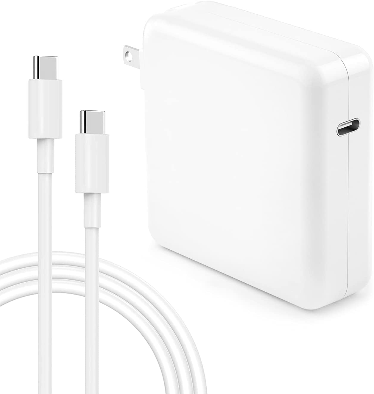 Mac Book Pro Charger - 100W USB C Charger Power Adapter Compatible with MacBook Pro 16, 15, 13 Inch, MacBook Air 13 Inch, iPad Pro 2021/2020/2019/2018 and All USB C Device, 7.2ft USB C to C Cable