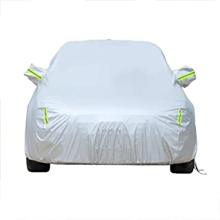 DUWEN Compatible with Nissan March Nismo S Car Cover Outdoor Dust Cover Oxford Cloth Car Tarpaulin Car Clothing Sunscreen Insulation UV Scratch Resistant All Weather Breathable Full Car Cover