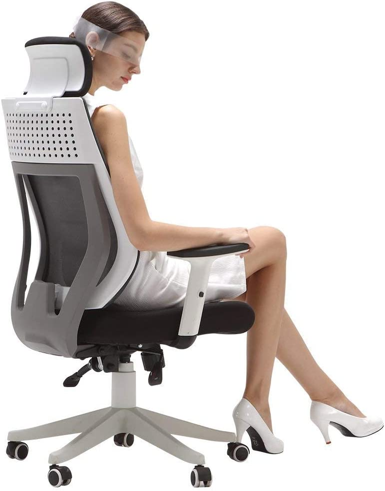 Hbada Ergonomic Office Chair High Back Adjustable Mesh Computer Desk Chair Amazon De Home Kitchen
