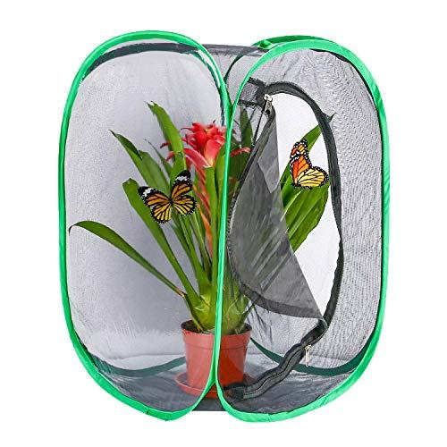 Hautton Insekten und Schmetterlings Habitat käfig Schmetterlingshäuse, Zusammenklappbarer Insektenkäfig 23,6 Zoll groß –Schwarz