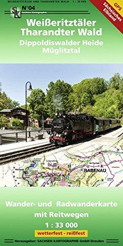Weißeritztäler - Tharandter Wald Dippoldiswalder Heide - Müglitztal: Wander- und Radwanderkarte mit Reitwegen 1:33 000 GPS-fähig, wetter- und reißfest