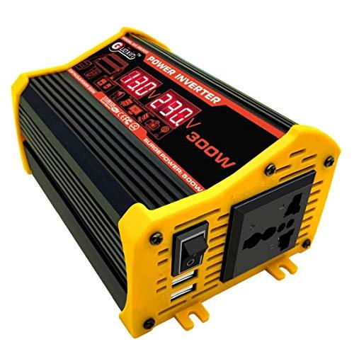 DC 12V inversor de la energía del coche 300W a 220V AC convertidor con doble USB Pantalla LED del adaptador del cargador del coche