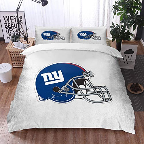 XiHi Duvet Cover Set, Bed Sheets, Rugby team New York Giants Solid color background Artistic creative theme,1 Duvet Cover Set 200 * 200 cm,+2 pillowcase 50x80cm