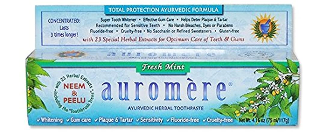 最小助けになる主人オーロメア アーユルヴェーダ ハーバル歯磨き粉 フレッシュミント 117g 海外直送品 [並行輸入品]