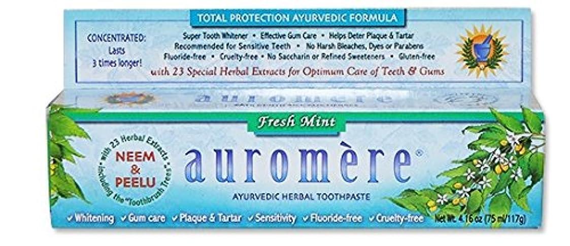 魅力僕の抜本的なオーロメア アーユルヴェーダ ハーバル歯磨き粉 フレッシュミント 117g 海外直送品 [並行輸入品]