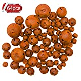 Iceyyyy 64Pcs Rusted Metal Jingle Bells Craft Bells DIY Bells for Wreath Christmas, Holiday and Craft Decorations