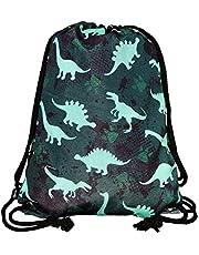HECKBO gymtas kinderen meisje jongen - dino dinosaurus motief - 40x32cm - kleuterschool, kinderdagverblijf, crèche - rugzak, tas, sporttas, sporttas, kleuterrugzak, kinderrugzak, stuff sack