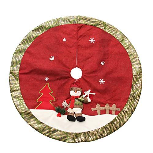Amosfun Christmas Tree Skirts 42 Inch Christmas Tree Carpet Tree Mat Tree Collar Xmas Party Ornament for Festive Holiday Christmas Party Decoration