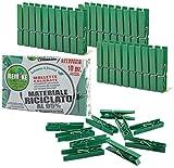 remake 40 Piezas - Pinzas para la Ropa ecológico 95% con Plástico Reciclado, Talla Grande. Molde monobloque. Resistente y a Prueba de Viento