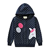 Toddler Girls Zip-up Hoodie Sweatshirts Long Sleeve Unicorn Jacket Shirts Fleece Pullover Clothes Tops for Little Kids Size 6