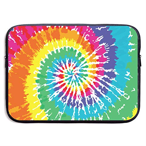 Tie Dye Laptop Carrying Case Waterproof Laptop Sleeve, Laptop Sleeve Bag Neoprene Handbag Protective Bag Cover Case for 13'' 15