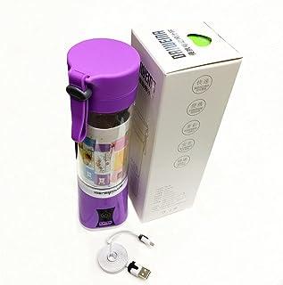 الأم 400 مل USB مصغرة الكهربائية الخضروات الفاكهة عصارة المحمولة سموثي صانع خلاط عصير كأس الأرجواني
