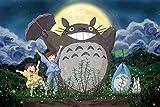 Skwenp Anime Tonari no Totoro Jigsaw Puzzles en Bois Puzzles de 1000 pièces Plan Jeu Enfants Puzzle Jouets Décoration Paysage Avion Puzzle Souvenirs, Cadeau d'anniversaire