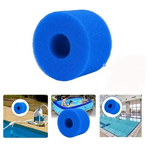 XIAOL Filterkartusche für Intex Typ S1,Schwimmbad Filter Schaum Schwamm, wiederverwendbar, waschbar (4PCS)