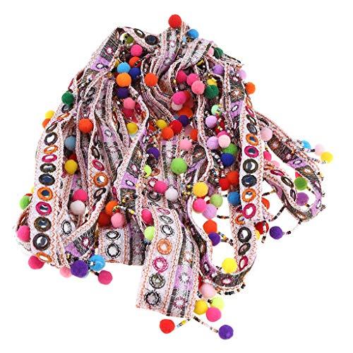 WANGYUMI DIY Handmade Bohemian Style Beads Tassel Lace Trim Ribbon Pompom Sewing On Clothes Craft Accessories Fringe Braid