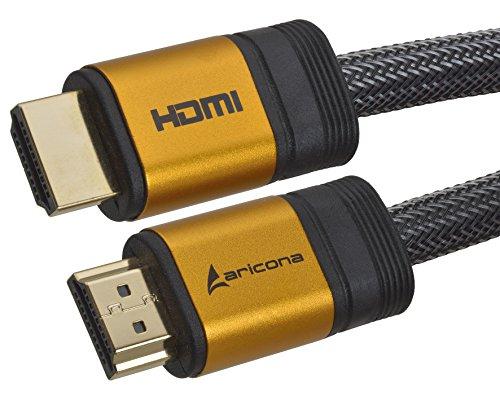 Aricona HDMI Kabel - High End HDMI Kabel 1 Meter - Profi Serie - HDMI 2.0/1.4a - 4K Ultra HD, 3D, Full HD, 1080p, ARC, Ethernet