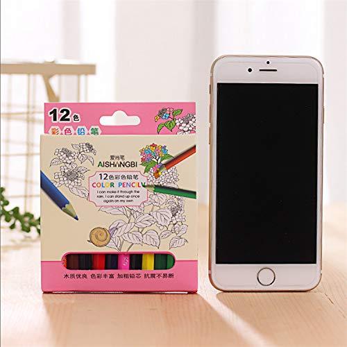Janly Clearance Sale 12 lápices de Colores pequeños para Pintar el día de San Patricio en Multicolor