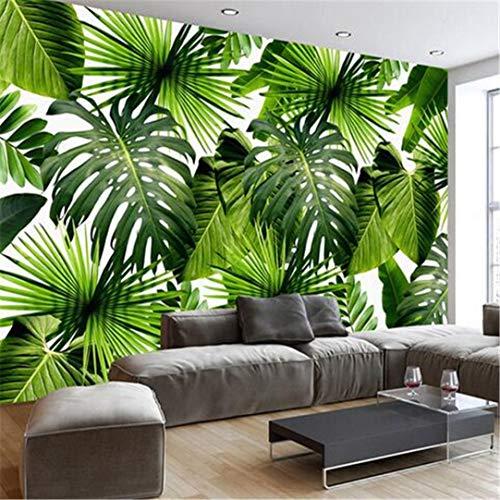 3D Große Benutzerdefinierte Wallpaper Benutzerdefinierte 3D Wandbild Tapete Südostasien Tropischen Regenwald Bananenblatt Foto Wand Hintergrund Wandbild Vlies Moderne Tapete, 350 Cm * 245 Cm
