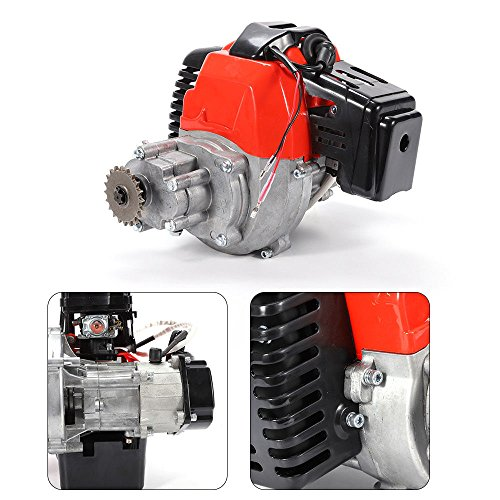 49cc 2 Stroke Gas Engine Motor Single Cylinder Pull Start Mini Pocket Pit Bike Carburetor