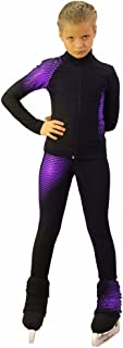 IceDress Figure Skating Outfit -Disco (Black and Violet)
