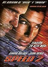 Speed 2: Cruise Control Movie Poster (27 x 40 Inches - 69cm x 102cm) (1997) Spanish -(Richard Speight Jr.)(Joe Morton)(Enrique Murciano)(Sandra Bullock)(Jason Patric)(Willem Dafoe) by MG Poster