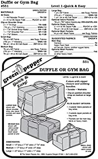 Duffle or Gym Bag Pack Carry-All Luggage Bag #551 Sewing Pattern (Pattern Only)