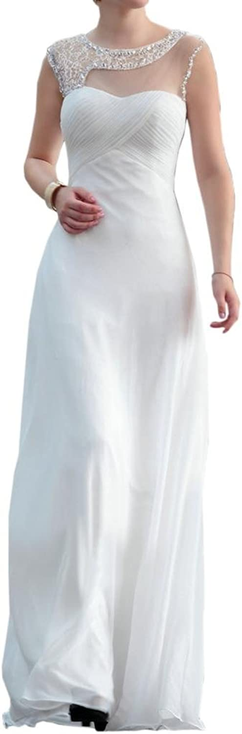 Angel Bride Jewel Neck Empire FloorLength Pregnant Wedding Evening Dresses