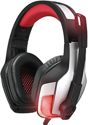 Cuffie da Gioco per Cuffie da 3,5 mm PS4 con Luce a LED, con Microfono a cancellazione di Rumore e Controllo del Volume, Compatibile con PC, Xbox One, PS4, Nintendo Switch e dispositivi mobili-Red - Trova i prezzi più bassi