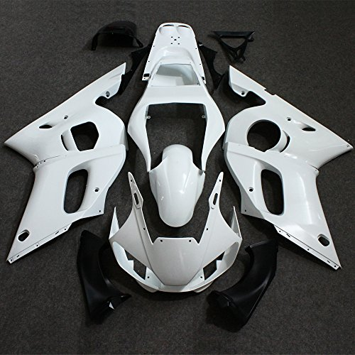 ZXMOTO Unpainted Motorcycle Fairings Kit for 1998 1999 2000 2001 2002 YAMAHA YZF R6